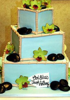 Buddy's Cake Creations Three-Tiered Bamboo Cake
