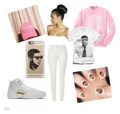 """DRAKE!!!"" by woodsjoanna ❤ liked on Polyvore featuring Casetify, Drakes London, River Island and Boohoo"