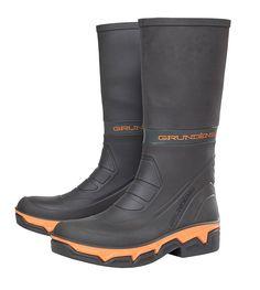 Grundens 15DB Deck Boss Waterproof Boots, Black/Orange, 9 Tall Boots, Black Boots, Mens Rain Boots, Upper Deck, Waterproof Boots, Men's Shoes, Combat Boots, Orange, Construction