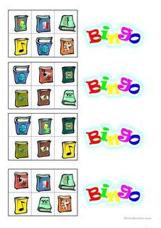 Bingospiel zum Thema Schule - Deutsch Daf Arbeitsblatter Middle School, Elementary Schools, Grammar, Deutsch