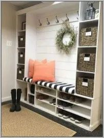 Mud room Our Mudroom Refresh. How to create a room that sparks joy! Mud room Our Mudroom Refresh. How to create a room that sparks joy! My Living Room, Living Room Furniture, Home Furniture, Living Room Decor, Repurposed Furniture, Furniture Design, Rustic Furniture, Smart Furniture, Furniture Refinishing