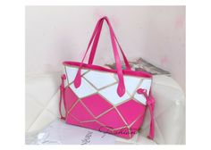 Free Shipping Brand New Fashion Pink Tote Bag Top Quality Hot Sale 2013 PU Leather Totes  Bags Women $41.50