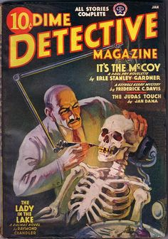 Dime Detective, Pulp Magazine - 1939, January by kocojim, via Flickr