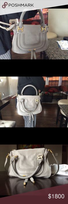 Large Chloe Marcie Bag Brand new bought from Bloomingdales last summer, never used,  no receipt, but have Bloomingdales record on my cc bill, no tags, thought it would grow on me but never did. Too big for my taste Chloe Bags Crossbody Bags