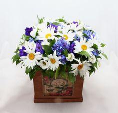 Цветочная композиция из летних живых цветов с доставкой по Москве