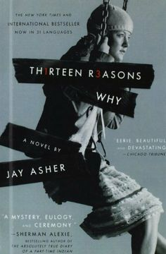 Thirteen Reasons Why by Jay Asher, http://www.amazon.co.uk/dp/1439594805/ref=cm_sw_r_pi_dp_5l76sb01QSH3J
