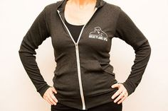 Charcoal black lightweight hoodie with Great Plains SPCA logo on the chest. #rescue #kc #pets #love #dogs #cats