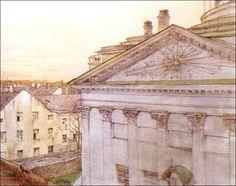 А. Бенуа Церковь св. Екатерины в Санкт-Петербурге 1899