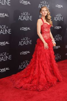 Blake Lively Red Carpet Fashion - Age of Adeline Press Tour