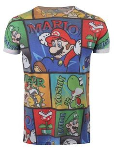 Nintendo Mario & Co All Over Print Men's T-Shirt