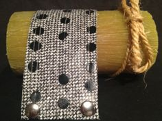Funky and fun polka dot leather cuff bracelet in black by Bedotted, $32.50