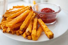 Baked butternut squash fries. Yum! #vegan