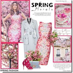 Spring flowers!! by lilly-2711 on Polyvore featuring мода, L.K.Bennett, topshop, springfashion, trenchcoat, Furla and floralprints
