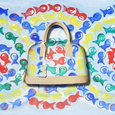 Artistic bag #lezirre #artisticbag #art #arte #borsa #larigida #fishes #colorful #summertime #estate2016 #pesci #