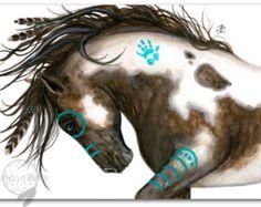 Majestic Black Stallion Native American Spirit Horse ArT