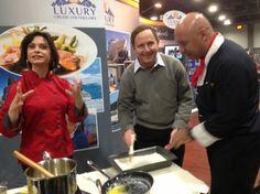 Food Writer Cary Pollak makes baklava with Chefs Amy Riolo and Luigi Diotaiuti