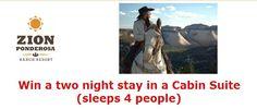 Zion Ponderosa Ranch Resort Getaway Giveaway