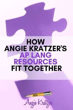 How Angie Kratzer's AP Lang Resources Fit Together English Short Stories, Ap English, Ap Literature, American Literature, Ap Language, English Language, Teaching High Schools, Middle School English, Literacy Centers