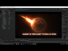 """AFTER EFFECTS ELEMENT 3D """"FIRE PLANET"""" TUTORIAL BY NPS3D - YouTube"""