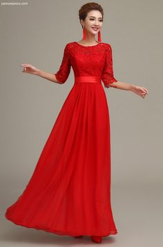 Brilliant Lace Illusion Dress Bridesmaids Evening Ball Gown