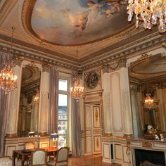 Part of the private jewelry Salon at Chaumet in Paris and once the apartment of Chopin.