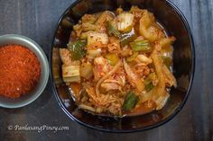 Kimchi is a type of Korean side dish. This is made from different vegetables. The main ingredient is Napa cabbage or Chinese Cabbage. Pastillas Recipe, Korean Side Dishes, Asian Recipes, Healthy Recipes, Kimchi Fried Rice, Vegetable Prep, Kimchi Recipe, Napa Cabbage