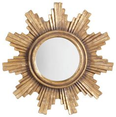 Handpainted Layered Sunburst Mirror - traditional - Products - Wisteria