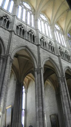 The interior of Notre Dame Cathedral, Amiens, France.