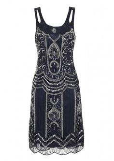 Ziegfeld Embellished Dress Navy - Dresses - Clothing