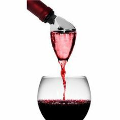 Metrokane Rabbit Wine Aerating Pourer: No more waiting for red wine to breathe! Thanks to Metrokane's Rabbit Wine Aerating Pourer you can open and serve your next bottle of wRabbit aerating pourer into a wine bottle as you would a conventional pourer Kitchen Gourmet, Kitchen Dining, Basic Kitchen, Wine Pourer, Wine Carafe, Wine Stoppers, Wine Bottles, Wine Supplies, Dirt Cheap
