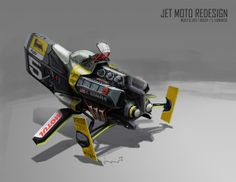 Jet Moto Redesign by IAN GALVIN, via Behance