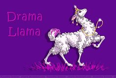 Drama Llama by *Sikaris on deviantART