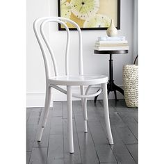 Vienna White Side Chair in Dining Chairs   Crate and Barrel  reg $120.00 Sale $99.95