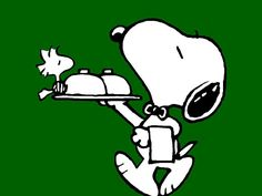 Snoopy Camarero Wallpaper
