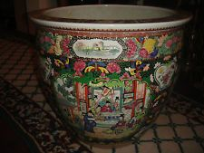 Superb Chinese Famille Rose Extremely Large Planter Bowl-Marked Center-36LBS