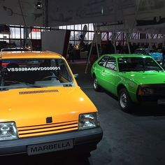 Los miticos #seatmarbella y #seat1200sport en el stand de @seatesp en #ClassicAuto. #ociomadrid #Madrid #casadecampo #seat #cochesclasicos #cocheclasico #motorclasico #clasicosseat #clasicosmadrid #seatclasicos #retro