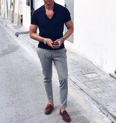 Mens Fashion Casual – The World of Mens Fashion Business Casual Men, Men Casual, Casual Chic, Summer Fashion Outfits, Casual Outfits, Men Fashion Show, Mens Fashion, Fashion Tips, Mode Bcbg