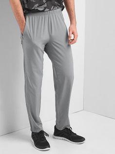 Gap Mens Gapfit Aerofast Pants Mercury Grey