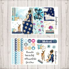Winter Planner Stickers/weekly sticker kit/Sticker kit for