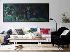 Prominent white, large photo, color accessories... perfection!