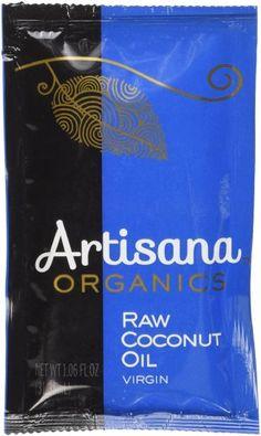 Artisana 100% Organic Raw Coconut Oil, 10 Packets, 1.06 oz (29.68 g) Each