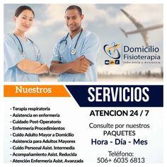Profesionales en Casa!!  506 + 60 35 68 13 CONSÚLTANOS #DomicilioFisioterapia