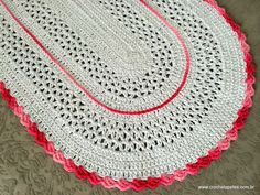Tapete oval – Pink   Croche.com.br