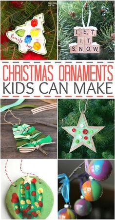 Looking for some fun Christmas ornaments that kids can make? Here are some of our favorites!