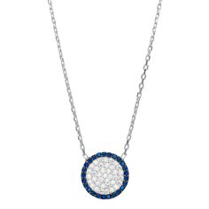 Round Evil Eye Necklace is also called a Mal De Ojo in Spanish.  Worn for good luck and protection, an overall sense of inner peace!!