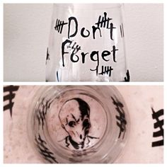 """Doctor Who inspired """"Silence"""" stemless wine glass. Silence wine glass"""