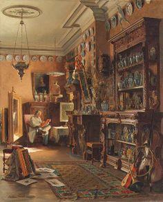 The Collector's Studio, Théodore Gérard. Belgian (1829 - 1895)