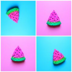 Make a mini watermelon piñata! Mini Pinatas, Paper Streamers, Punch Out, Triangle Shape, Party Guests, Crepe Paper, Diy Tutorial, Party Favors, Watermelon