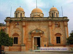 Crete, Chania, Akrotiri, Agia Triada Tzagarolon Crete Chania, Taj Mahal, Photo Galleries, Gallery, Building, Travel, Viajes, Roof Rack, Buildings