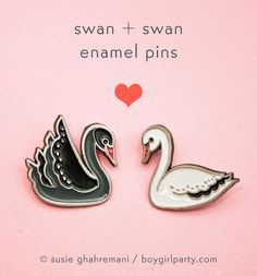 Swan Pin Set by Susie Ghahremani / http://shop.boygirlparty.com